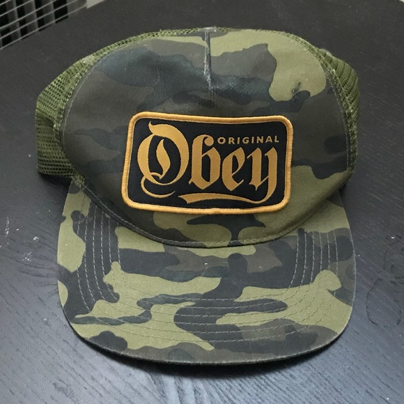 0a75aeffe70 Obey Camouflage Snapback Hat